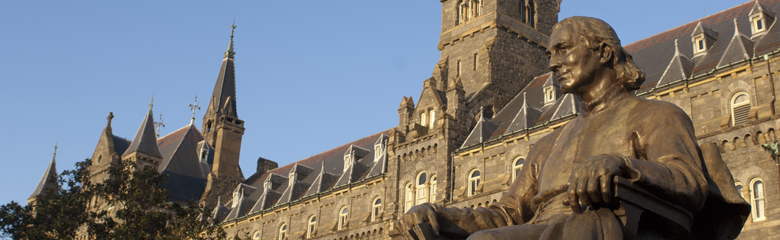 John Carroll statue at Georgetown University